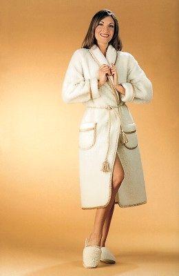 Robe de chambre en laine naturelle - Robe de chambre en laine ...